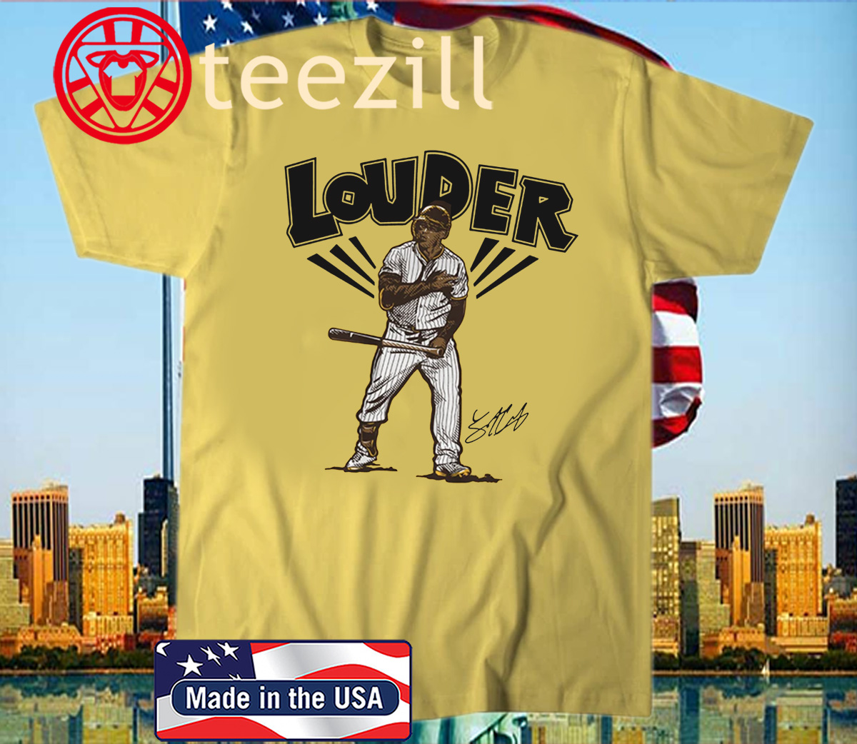 Trent Grisham Louder Shirt, San Diego
