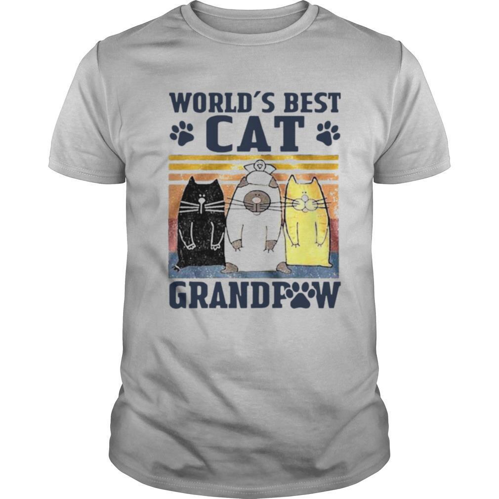 World's Best Cat Grandpaw Vintage shirt