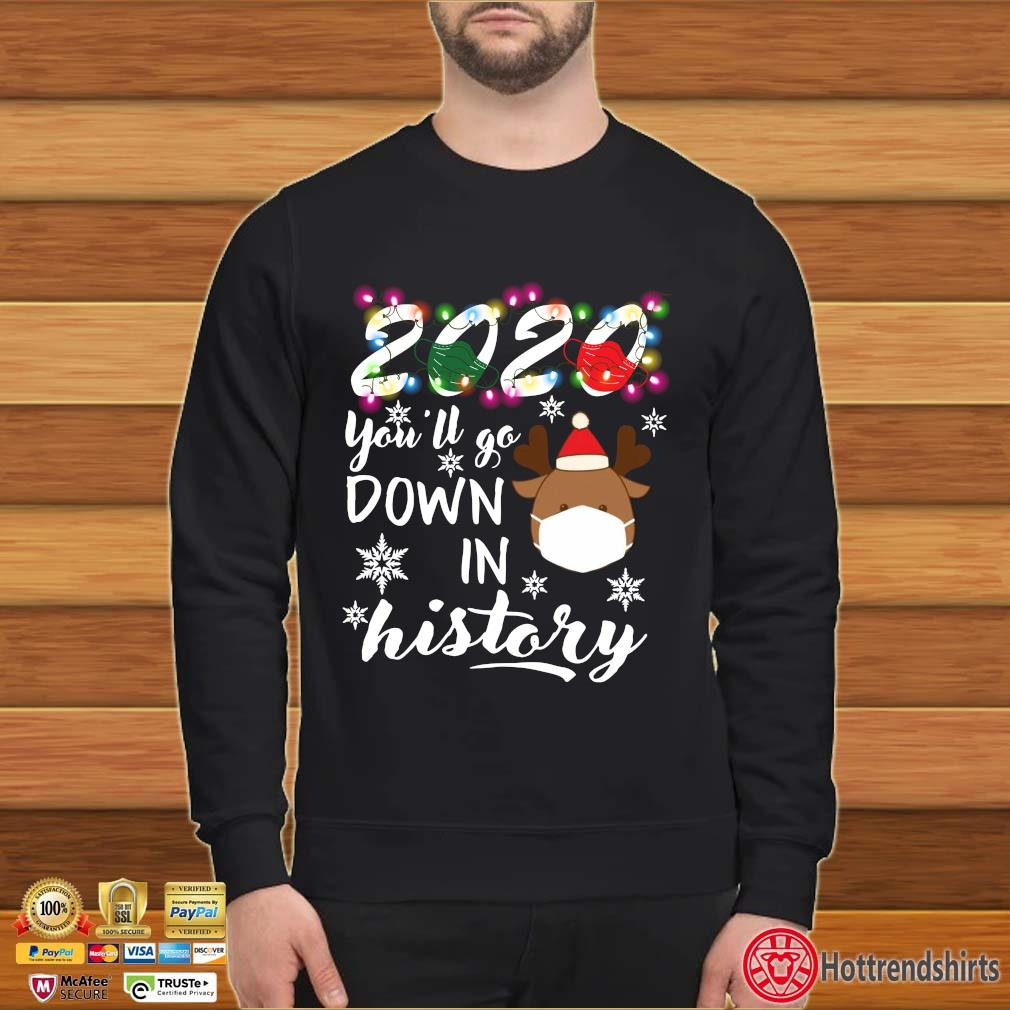 2020 Face Mask You'll Go Down In History Christmas 2020 s Sweater den