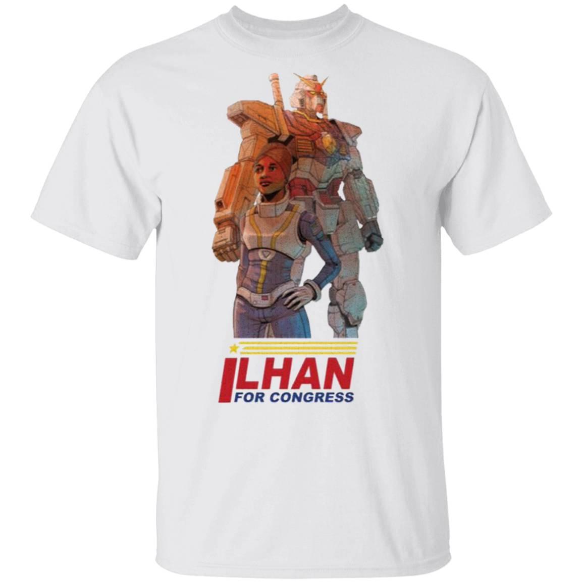 Ilhan Omar Gundam Pilot by Ben Sawyer T-Shirt