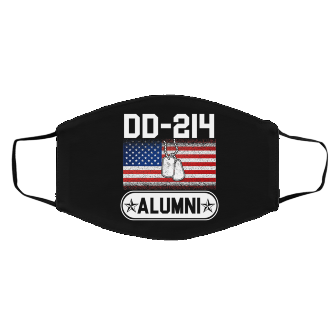 DD-214 Alumni Veteran I Haved Served Resuable Washable Custom Printed Face Mask, Black, Cloth Face Cover – Medium/Large