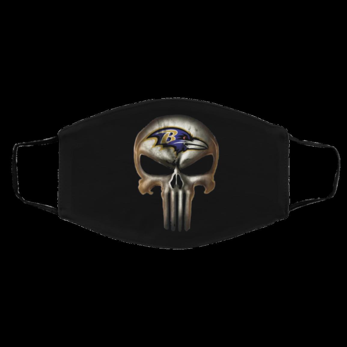 Face Mask Baltimore Ravens The Punisher Mashup Masks