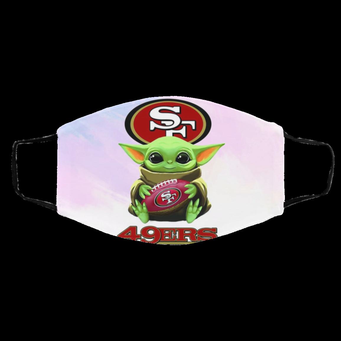 Ba-by Yod-a h-ug Sa-n Fra-ncisco 49ers NFL Face Mask
