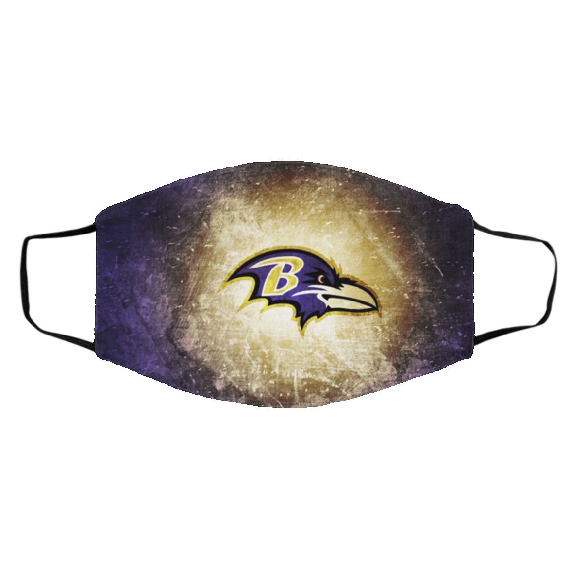 Baltimore Ravens Face Mask Activated Carbon
