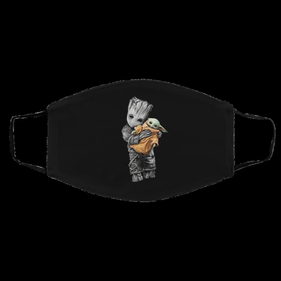 Baby Gro-ot Hug Ba-by Yoda Face Mask Gift For Fans