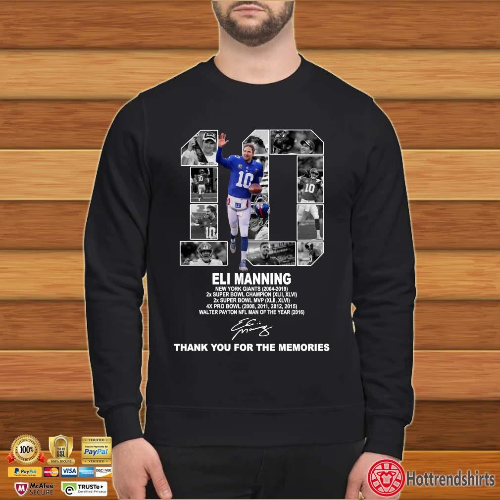 10 Eli Manning New York Giants Thank You For The Memories Shirt Sweater den