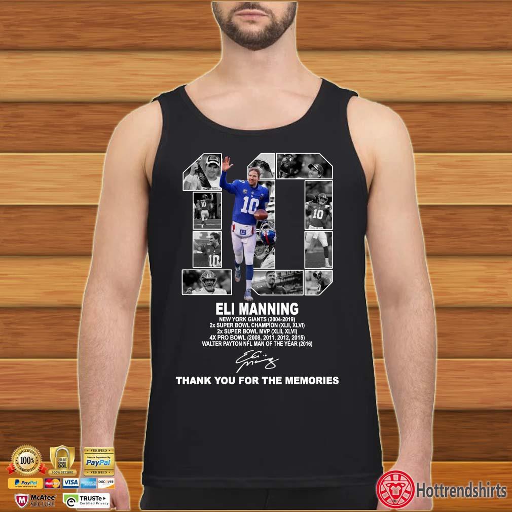 10 Eli Manning New York Giants Thank You For The Memories Shirt Tank top den