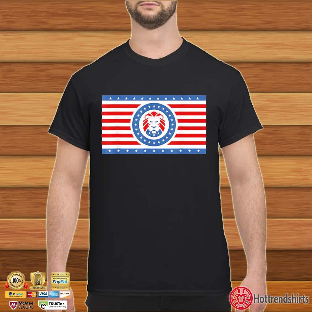 Funny Maga Lion flag Patriot party flag shirt