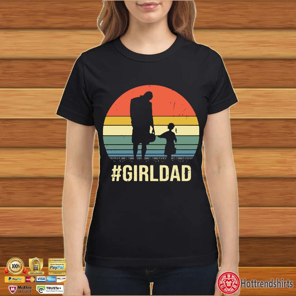 #Girldad vintage retro shirts Ladies đen