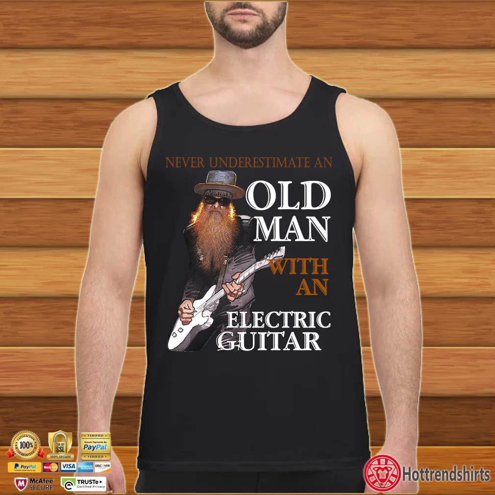 Never underestimate an old man with an electric guitar s Tank top den