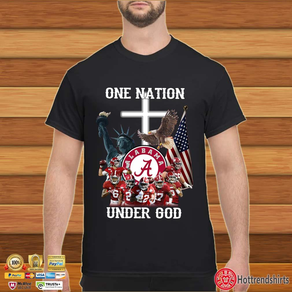 One nation Alabama Crimson Tide under god shirt