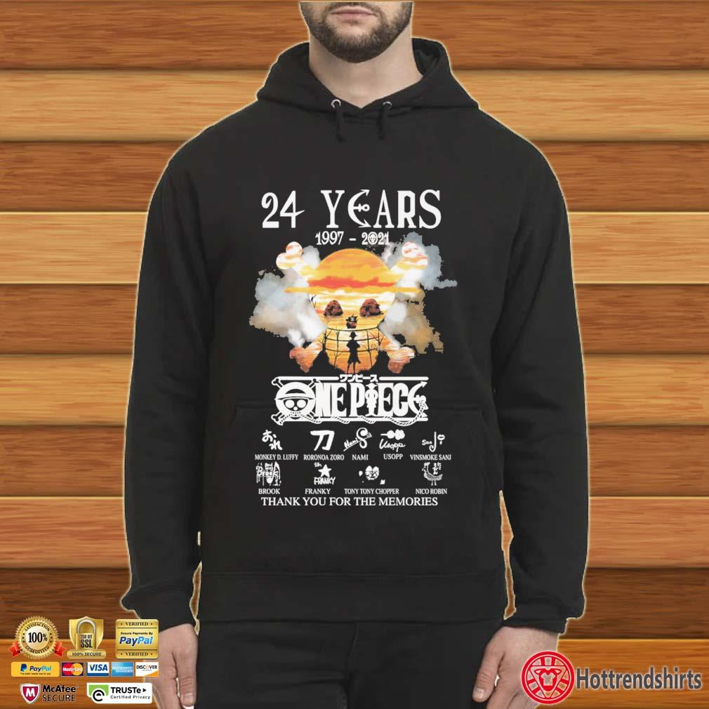 24 Years 1997-2021 Onepiece Thank You For The Memories Signatures Shirt Hoodie