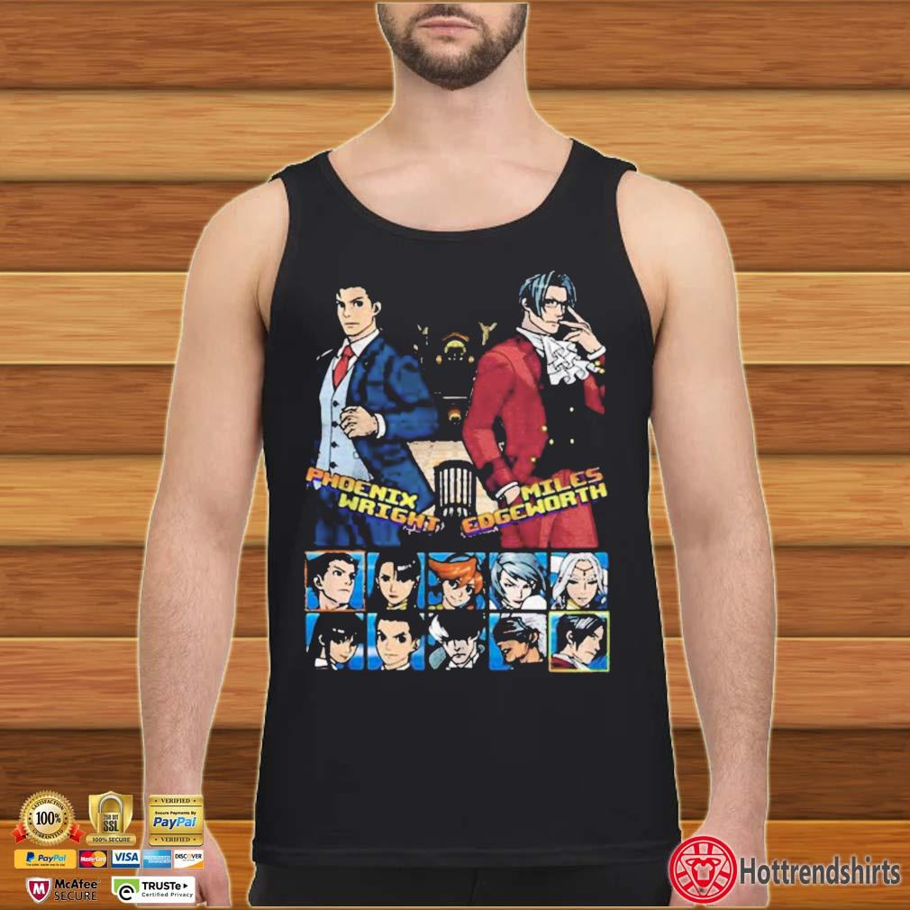Ace attorney phoenix wright and miles edgeworth charcoal s Tank top den
