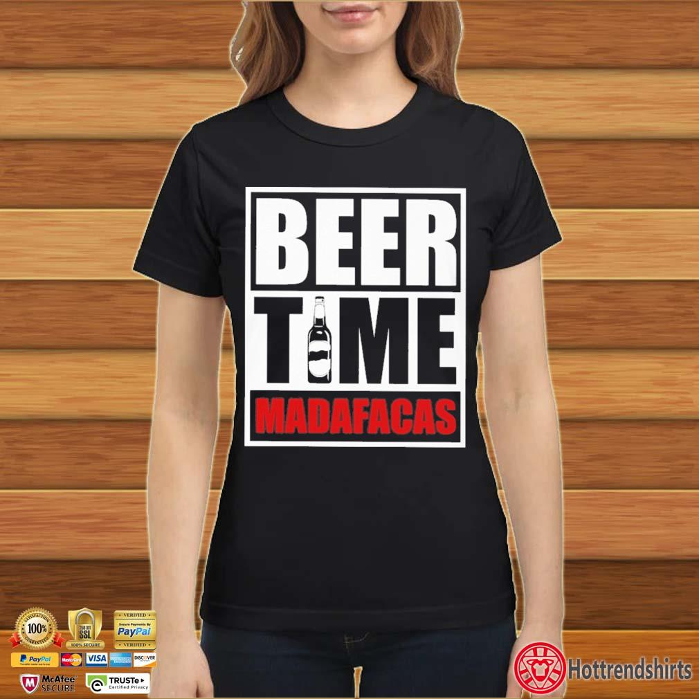 Beer Time Madafacas Shirt Ladies đen