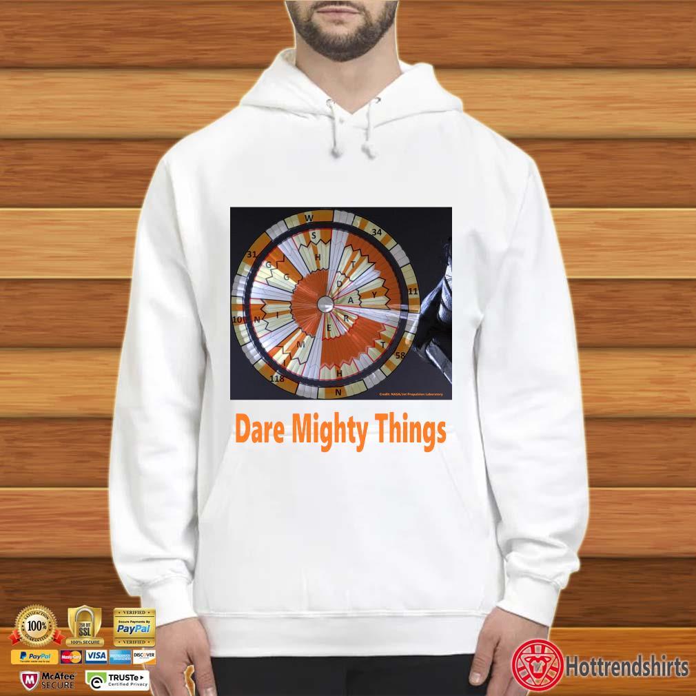 Credit Nasa dare mighty things Hoodie trắng