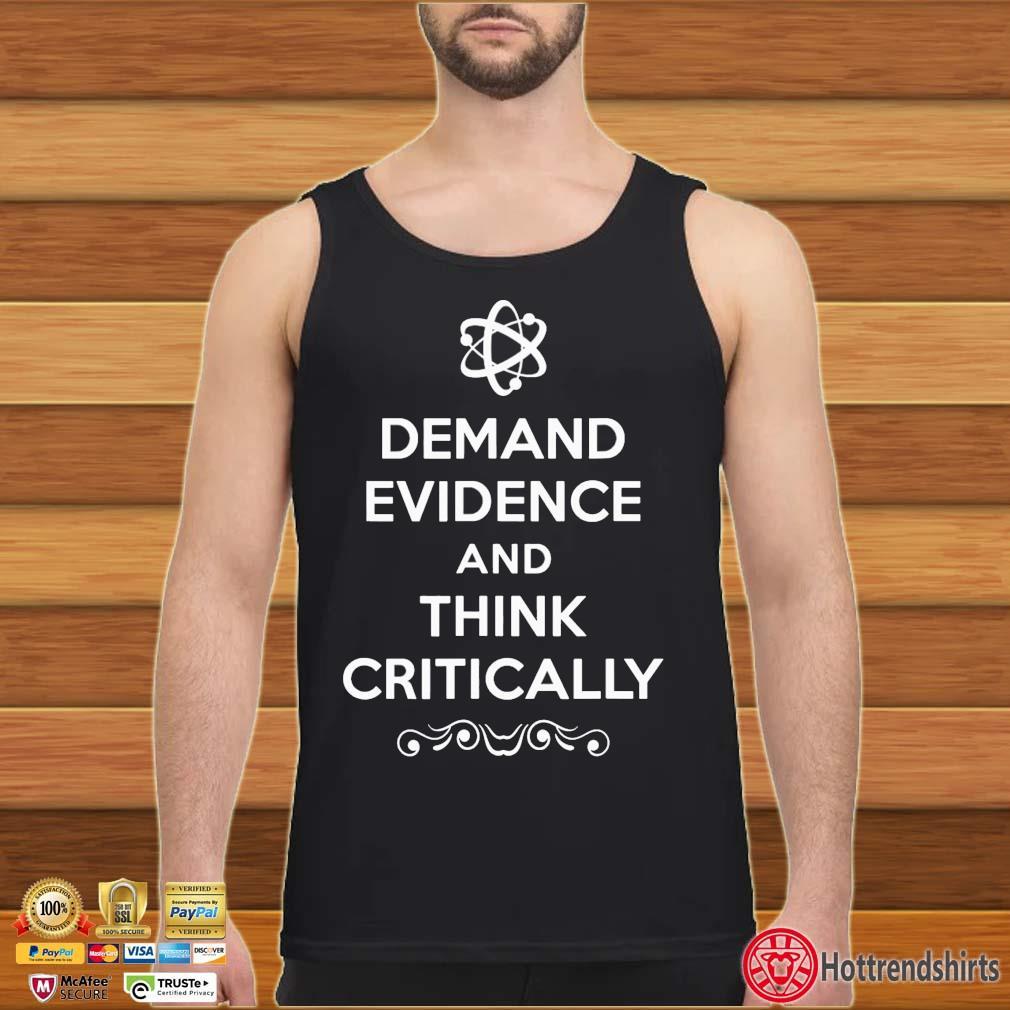 Demand Evidence Think Critically Shirt Tank top den