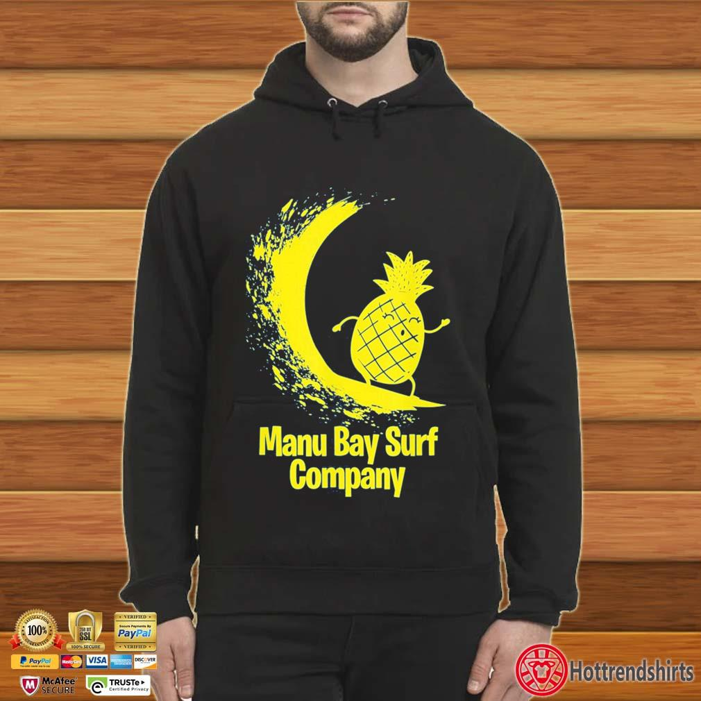Manu Bay Surf Company Gold Surfing Pineapple Shirt Hoodie