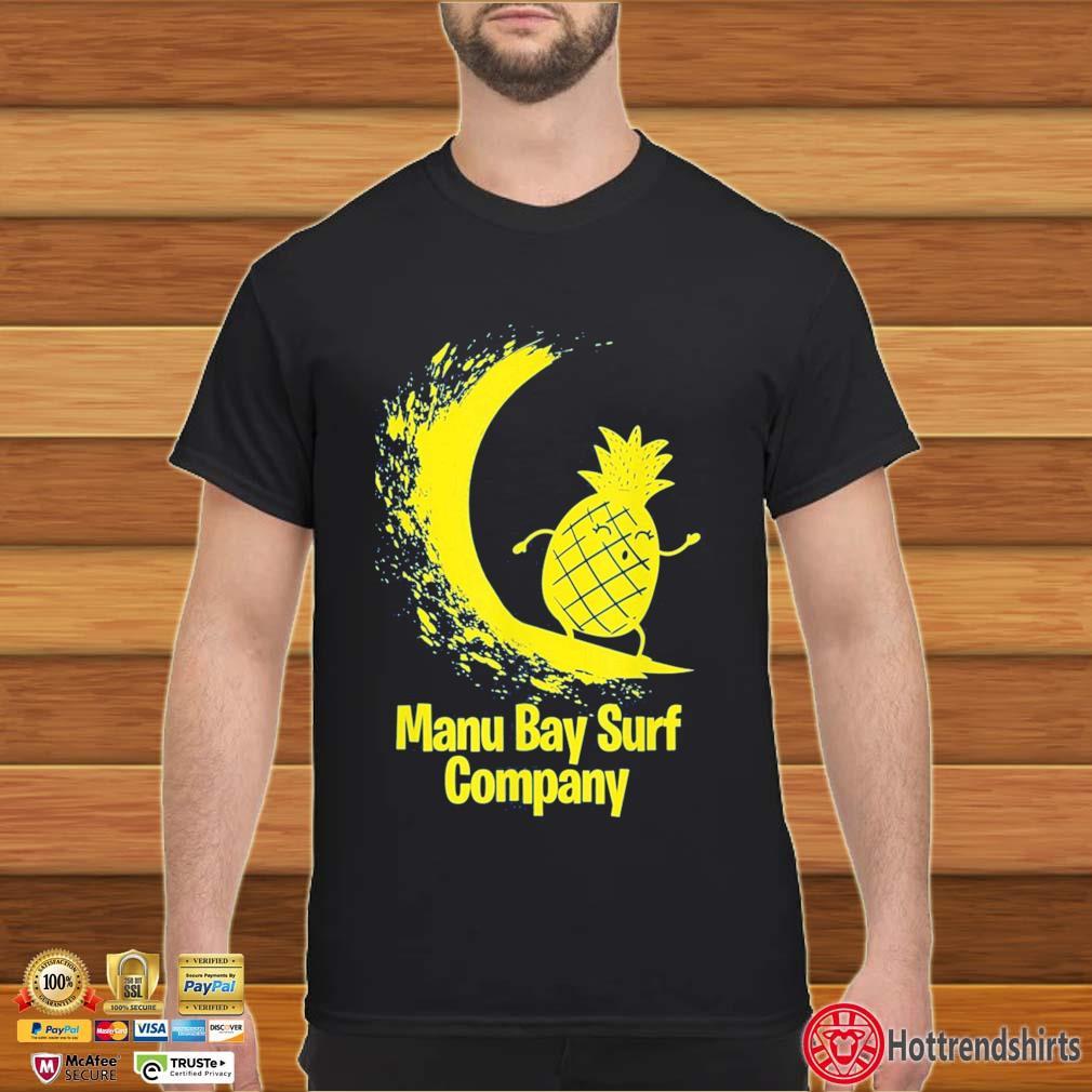 Manu Bay Surf Company Gold Surfing Pineapple Shirt