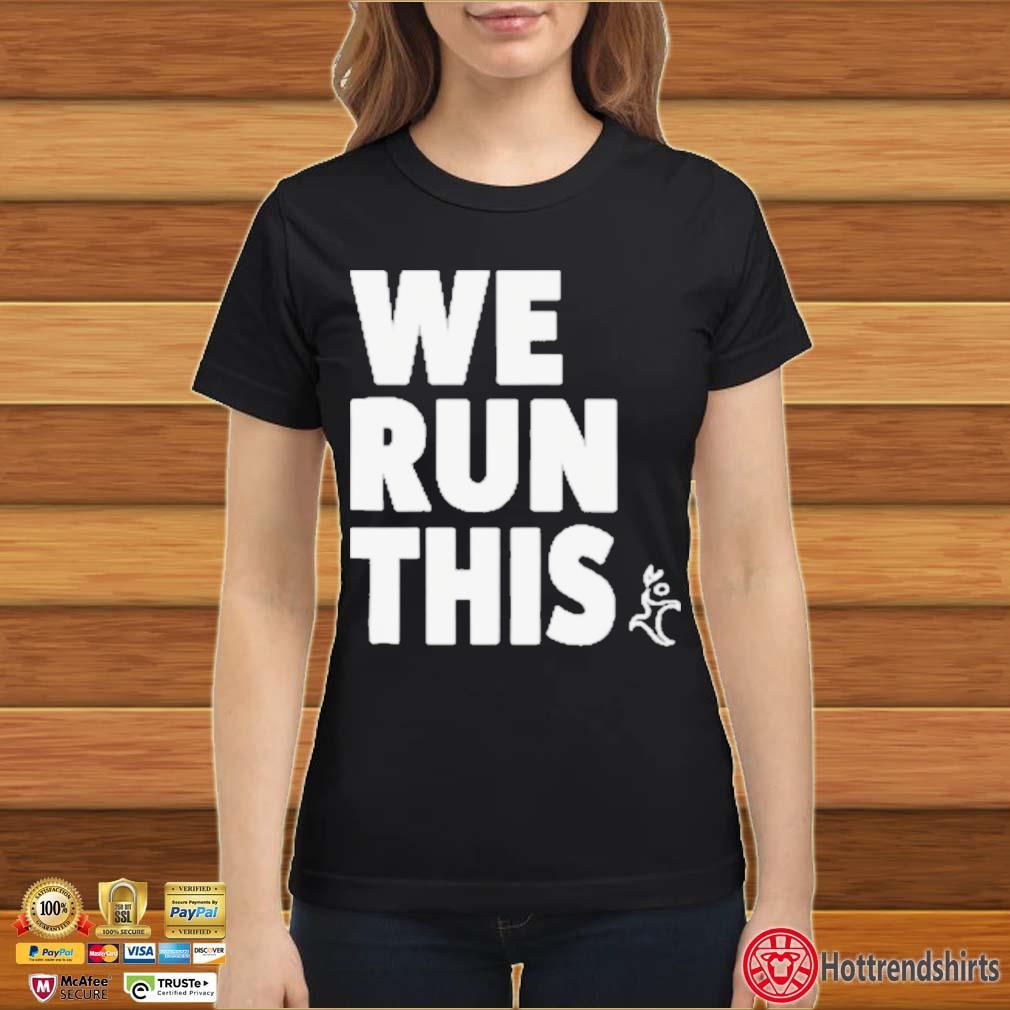 Runners Heel We Run This Shirt Ladies đen