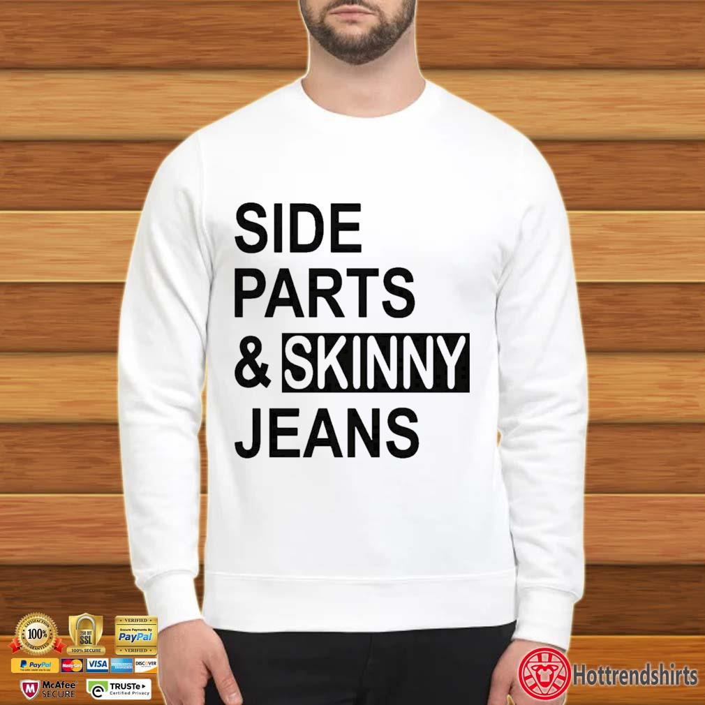 Side Parts And Skinny Jeans Shirt Sweater trang
