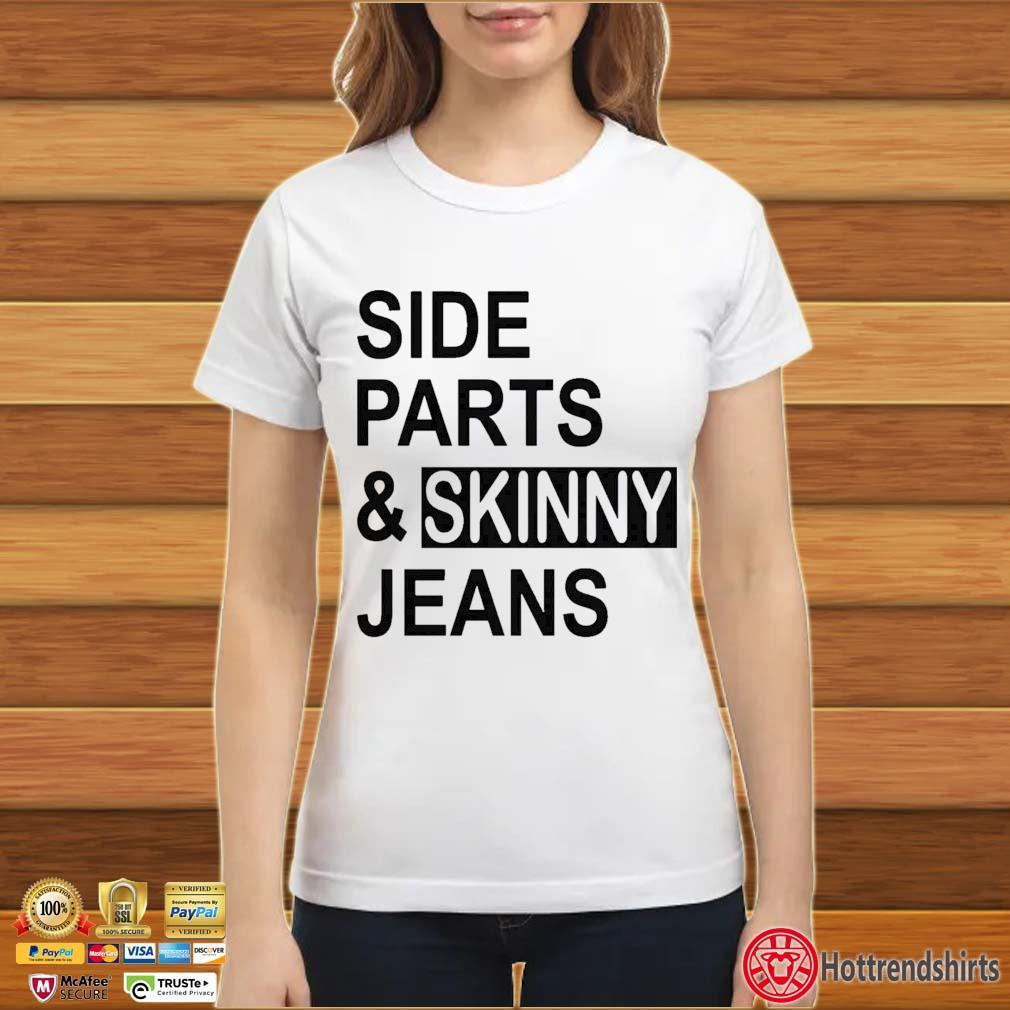 Side Parts And Skinny Jeans Shirt ladies trang