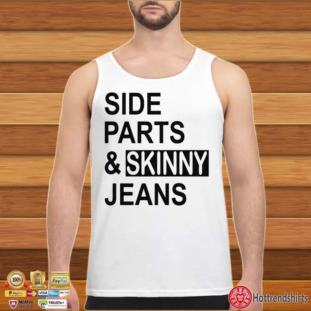 Side Parts And Skinny Jeans Shirt tank top trang