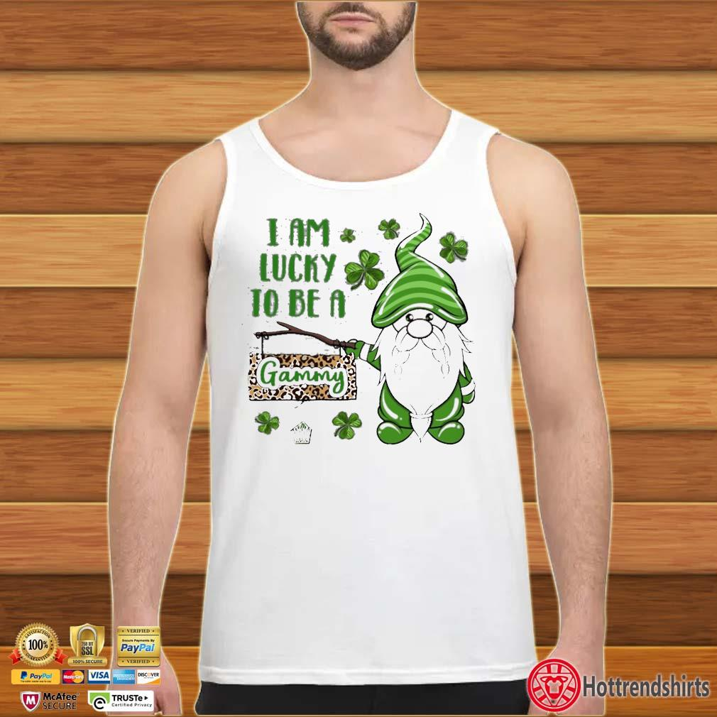 St Patrick Gnomes I Am Lucky To Be A Gammy Shirt tank top trang