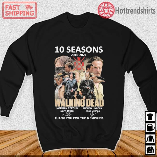 10 seasons 2010-2021 The Walking Dead thank you for the memories signatures Sweater den