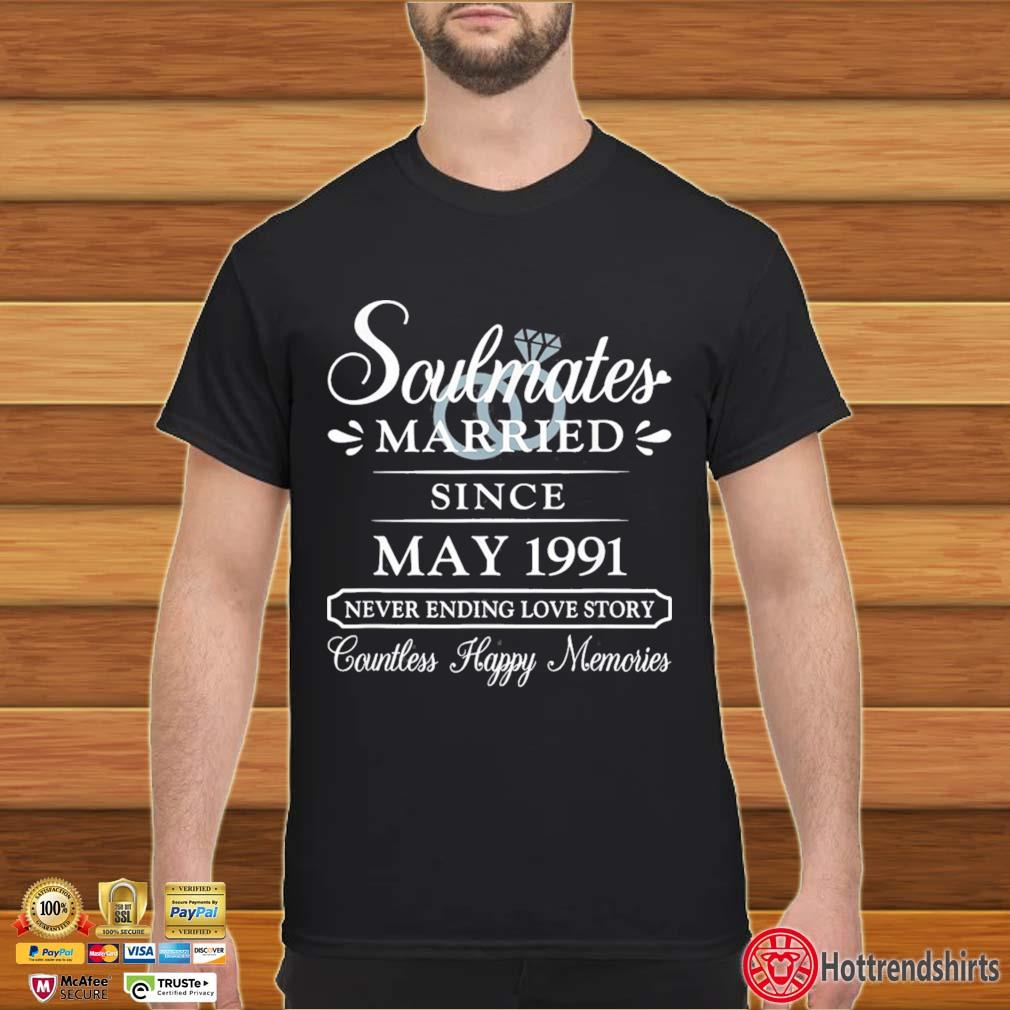 Couple Married Since May 1991 30th Wedding Anniversary Shirt