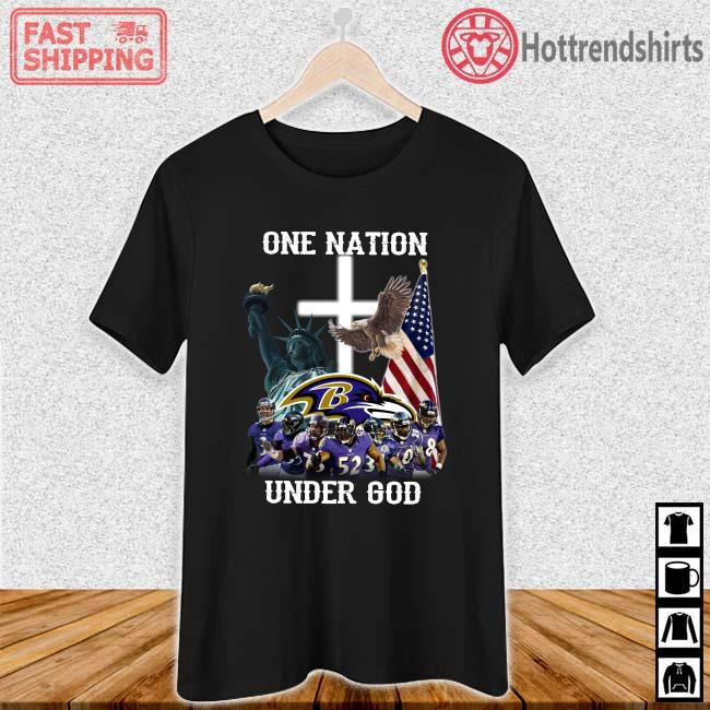 Baltimore Ravens One Nation Under God Shirt Ladies den