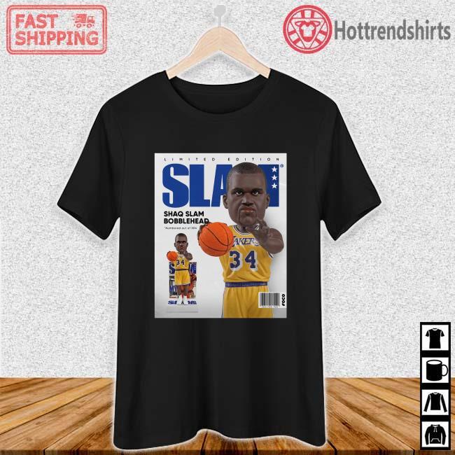 Limited Edition Slam Shaq Slam Bobblehead Shirt Ladies den