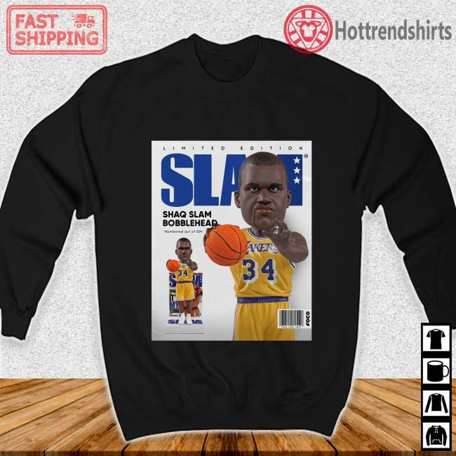 Limited Edition Slam Shaq Slam Bobblehead Shirt Sweater den