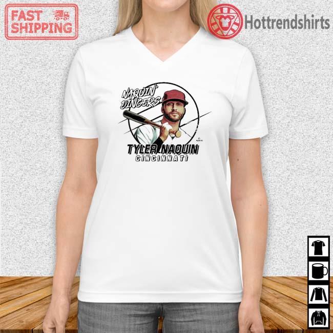 Naquin Dingers Tyler Naquin Shirt Vneck trang