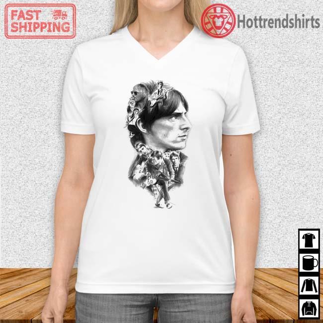 Paul Weller Montage Shirt Vneck trang