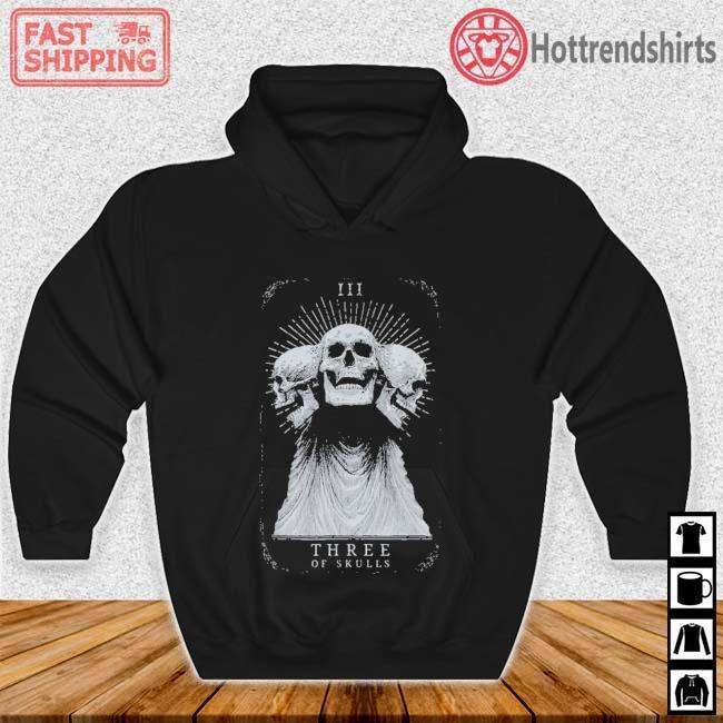 Showdown Anniversary Three of Skulls Black Shirt Hoodie den