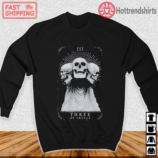 Showdown Anniversary Three of Skulls Black Shirt Sweater den