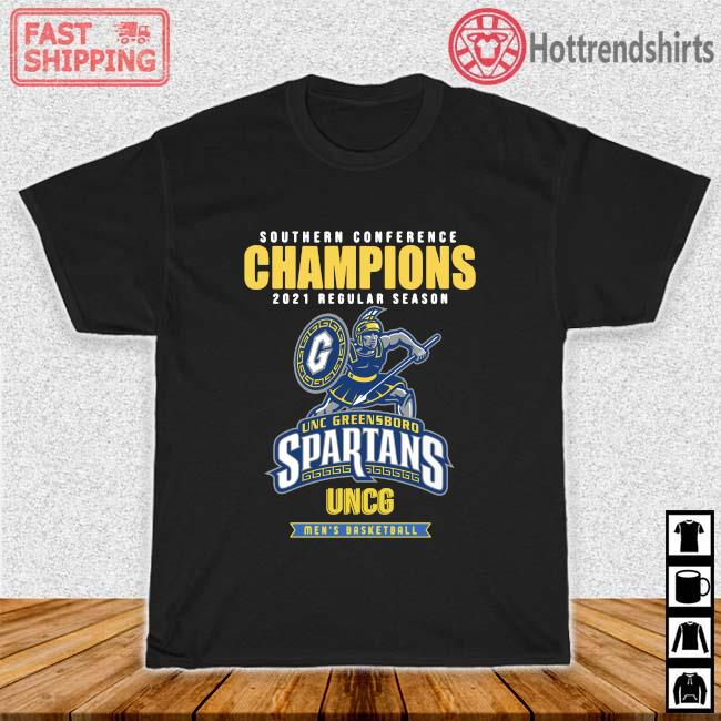 Southern Conference Champions 2021 Regular Season Unc Greensboro Spartans Uncg Men's Basketball Shirt