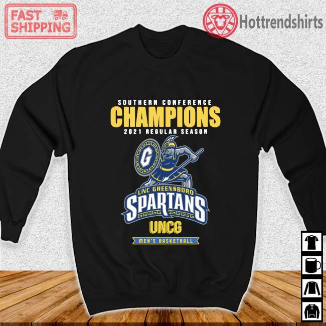 Southern Conference Champions 2021 Regular Season Unc Greensboro Spartans Uncg Men's Basketball Shirt Sweater den