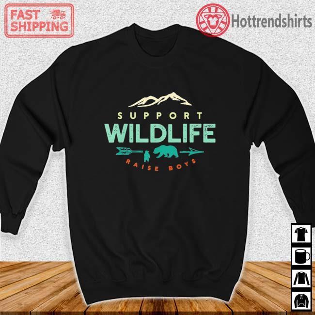 Support Wildlife Raise Boys Shirt Sweater den
