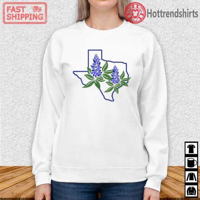 Texas Bluebonnet Wildflowers Shirt Sweater trang