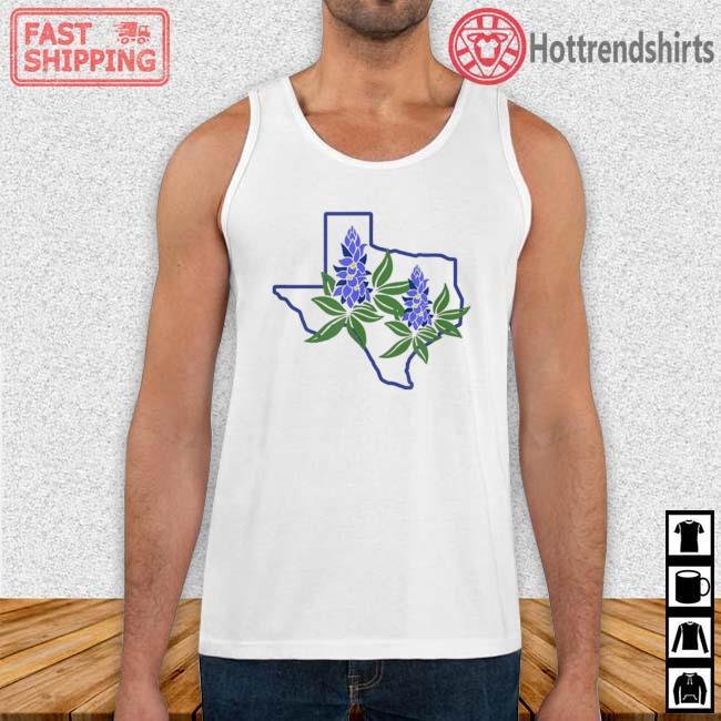 Texas Bluebonnet Wildflowers Shirt Tank Top trang