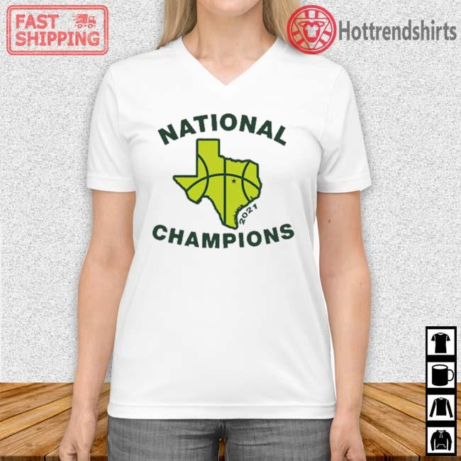 Texas Waco National Champions 2021 Shirt Vneck trang
