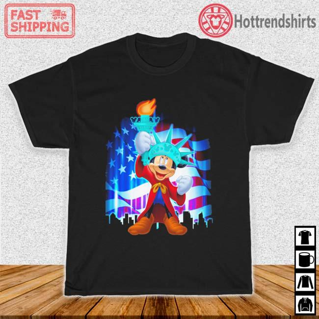 Mickey Mouse Liberties American Flag Shirt