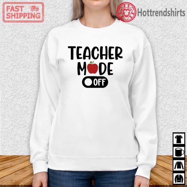 Teacher mode off Sweater trang