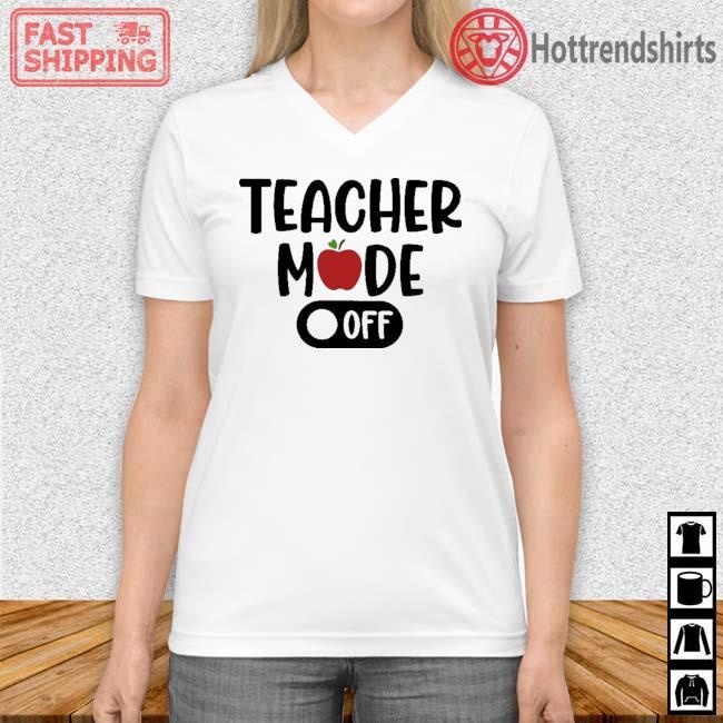 Teacher mode off Vneck trang